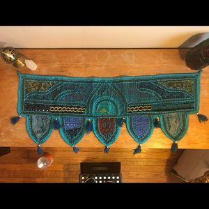 Indian boho window or door valance tapestry